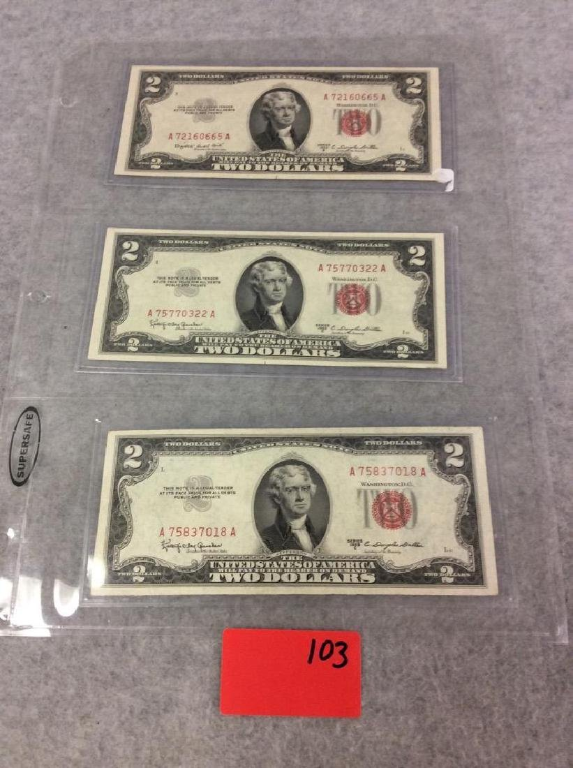 Of 3 series 1953 b 1953 c2 two dollar bill red lot of 3 series 1953 b 1953 c2 two dollar bill red 1betcityfo Choice Image