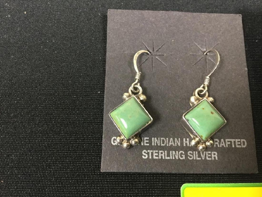 2 COUNT. GENUINE INDIAN HANDCRAFTED STERLING SILVER - 2