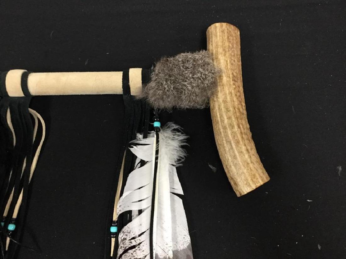 """NATIVE AMERICAN """"ANTLER PEACE PIPE"""" FROM THE SACRED - 4"""