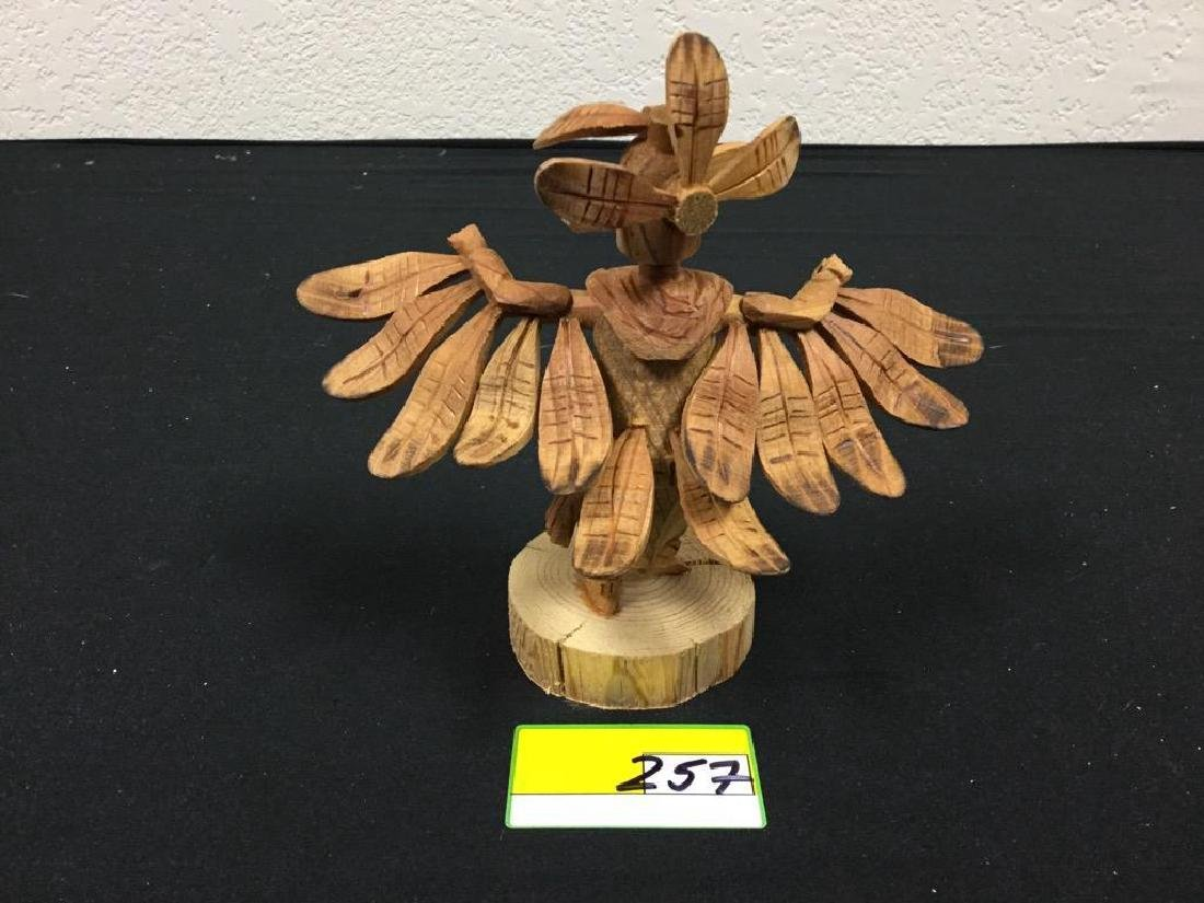 "NATIVE AMERICAN HAND CARVED ""EAGLE"" WOOD KACHINA. - 2"