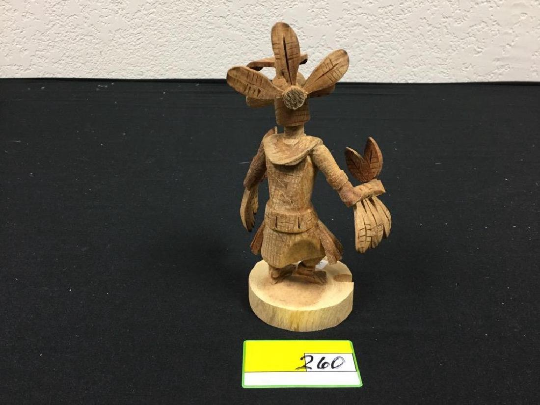 """NATIVE AMERICAN HAND CARVED NAVAJO """"RED TAIL HAWK"""" - 3"""