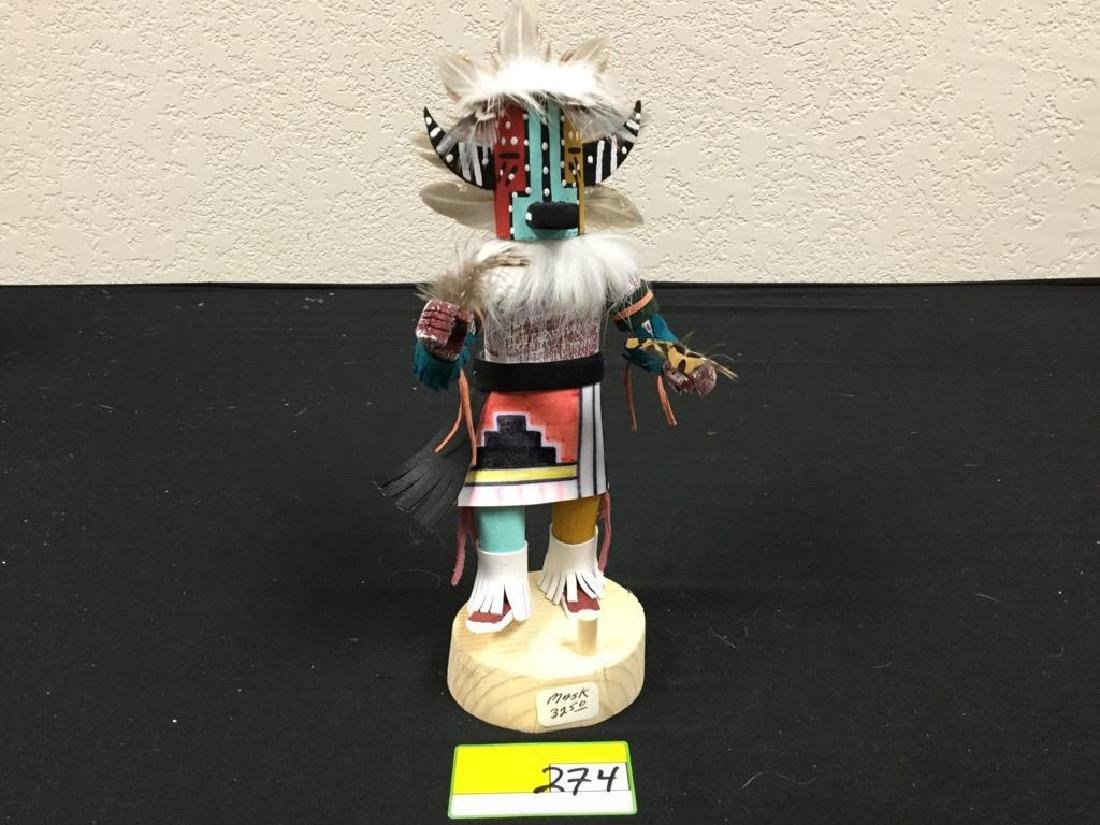 "NATIVE AMERICAN HANDCRAFTED ""BADGER"" MASKED KACHINA"