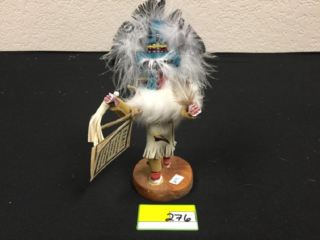 """NATIVE AMERICAN HANDCRAFTED """"HEMIS"""" KACHINA SIGNED BY"""