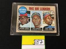 1968 Topps Roberto Clemente Hank Aaron League Leaders