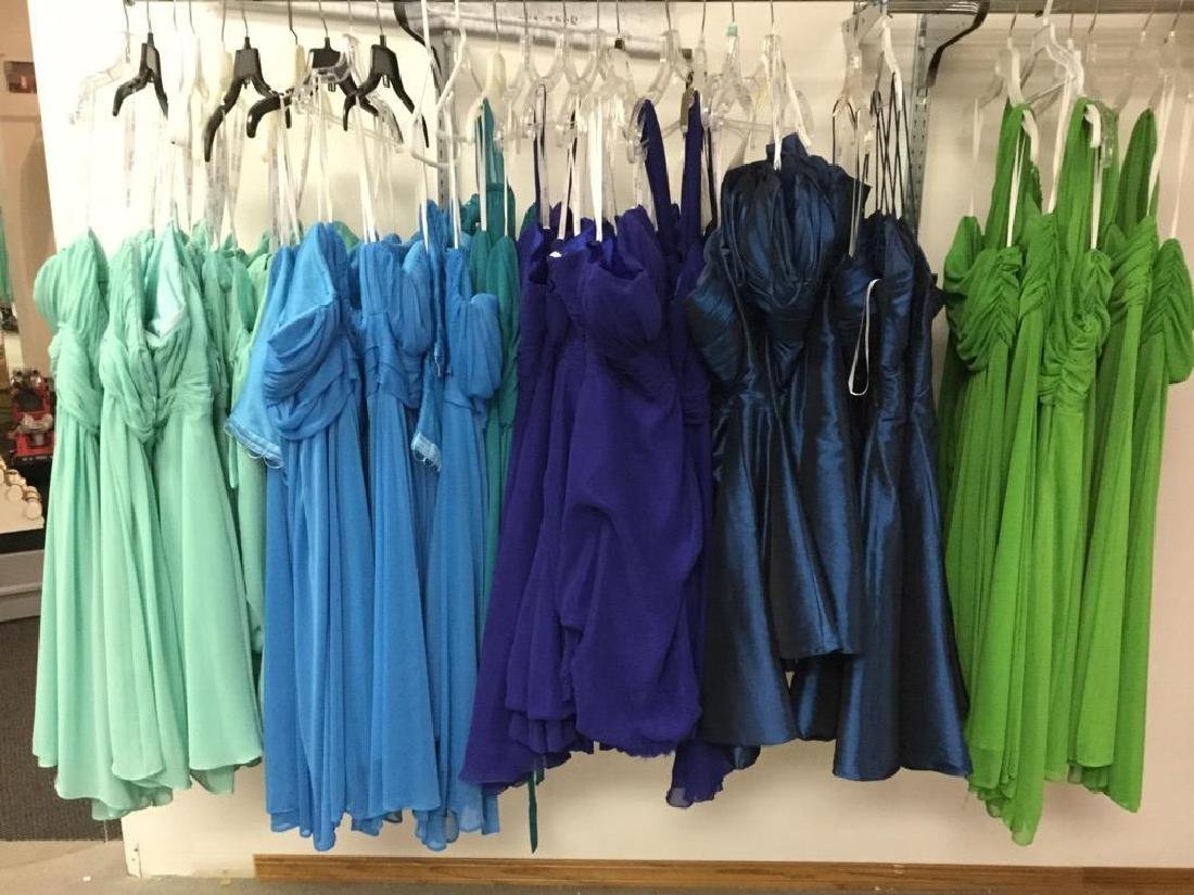 Lot of 42 Various Colored Bridesmaid Dresses