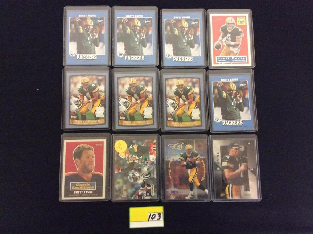 44 COUNT. ASSORTED FOOTBALL CARDS PORTRAYING THE ICONIC