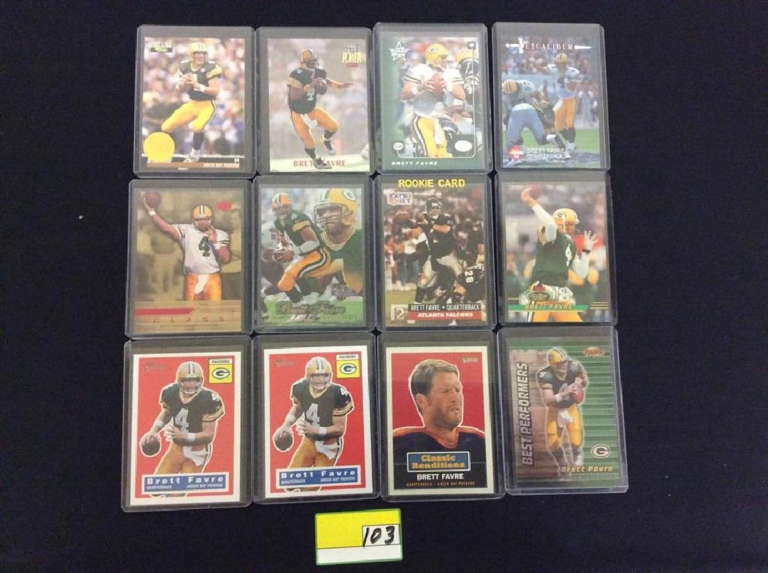 44 COUNT. ASSORTED FOOTBALL CARDS PORTRAYING THE ICONIC - 3