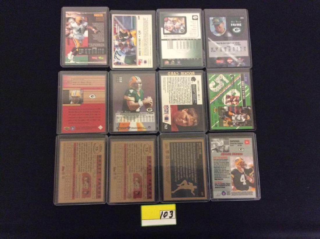 44 COUNT. ASSORTED FOOTBALL CARDS PORTRAYING THE ICONIC - 4