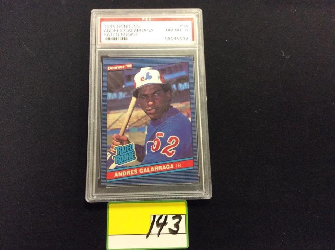 1986 DONRUSS #33 ANDRES GALARRAGA RATED ROOKIE CARD.