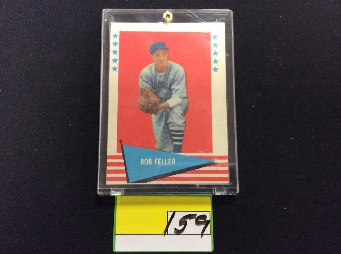 "VINTAGE 1961 FLEER BASEBALL GREATS ""BOB FELLER"" GET"