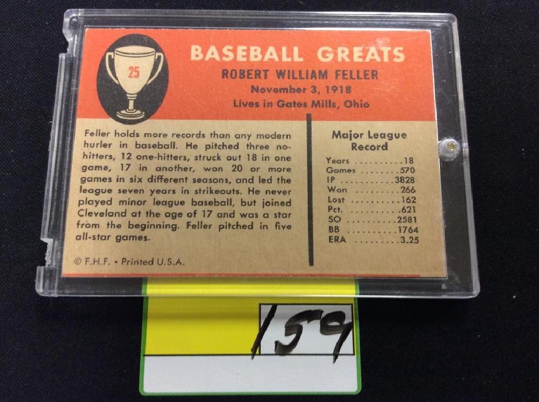 "VINTAGE 1961 FLEER BASEBALL GREATS ""BOB FELLER"" GET - 2"
