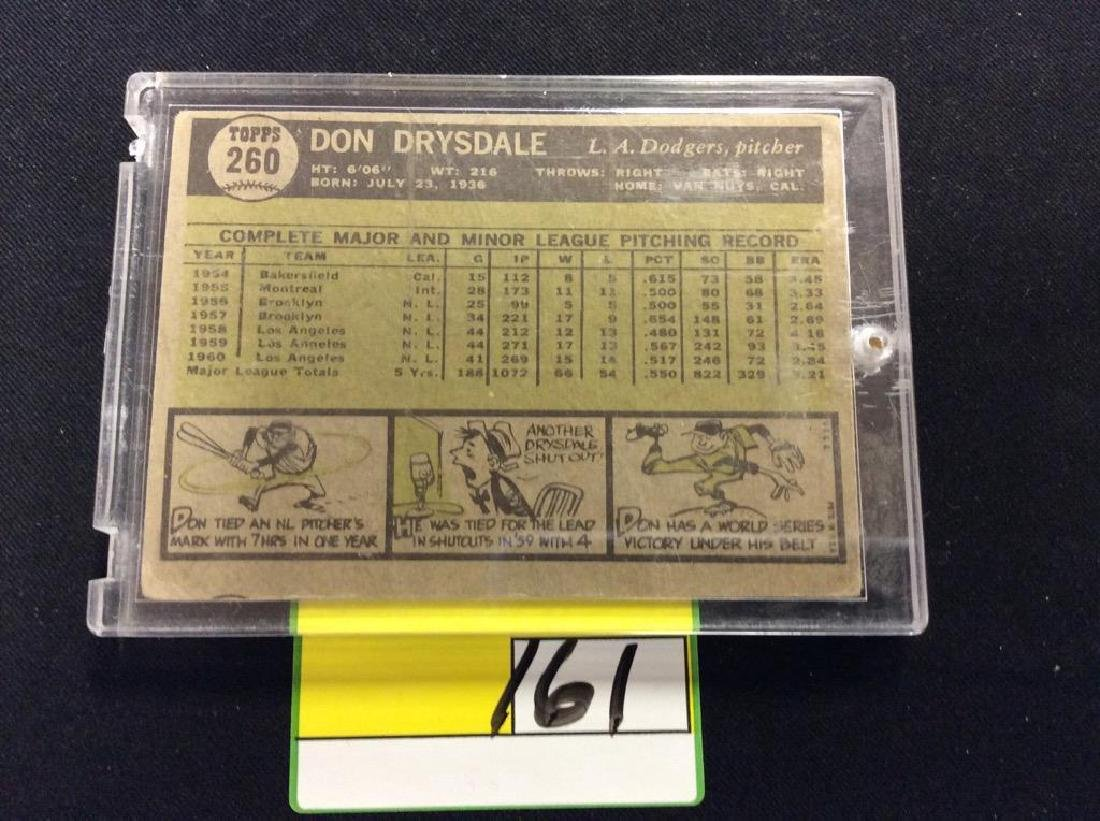 """VINTAGE 1961 TOPPS SET BREAK """"DON DRYSDALE"""" ONE OF THE - 2"""