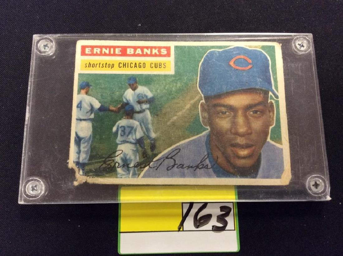 VINTAGE 1956 TOPPS #15 ERNIE BANKS. ONE OF THE GREATEST