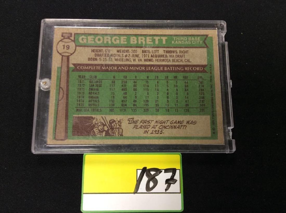 1976 TOPPS #19 GEORGE BRETT. KANSAS CITY ROYALS - 2