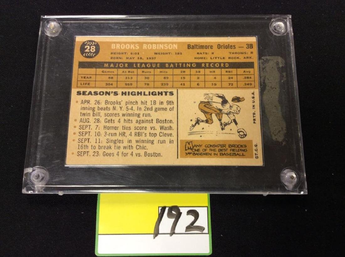 1960 TOPPS #28 BROOKS ROBINSON. THE CARD YOU'VE BEEN - 2