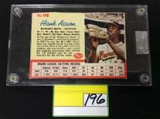 VINTAGE 1962 POST BOXTOP CARD NO149 HANK AARON