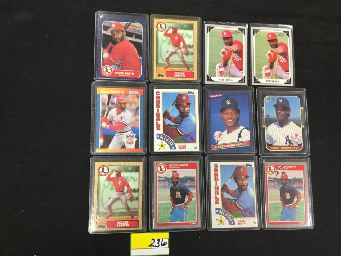 """46 COUNT. ASSORTED MIXED LOT """"OZZIE SMITH"""" TOPPS, - 3"""