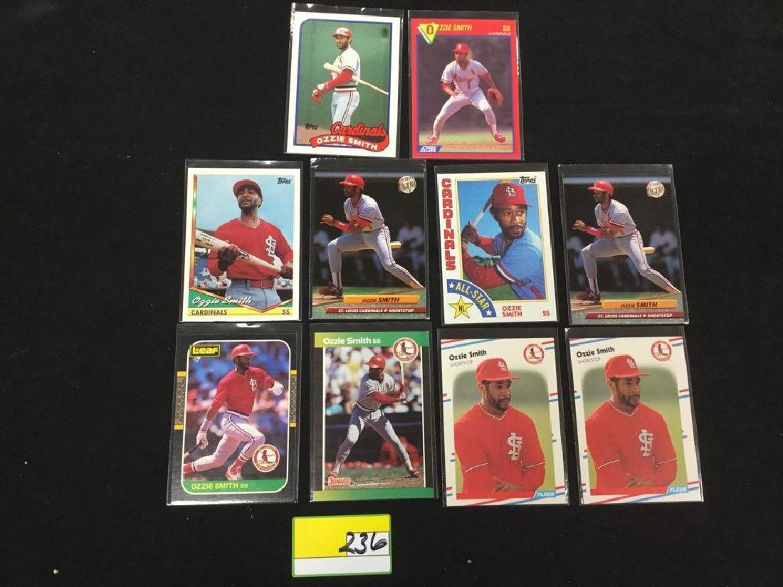 """46 COUNT. ASSORTED MIXED LOT """"OZZIE SMITH"""" TOPPS, - 7"""
