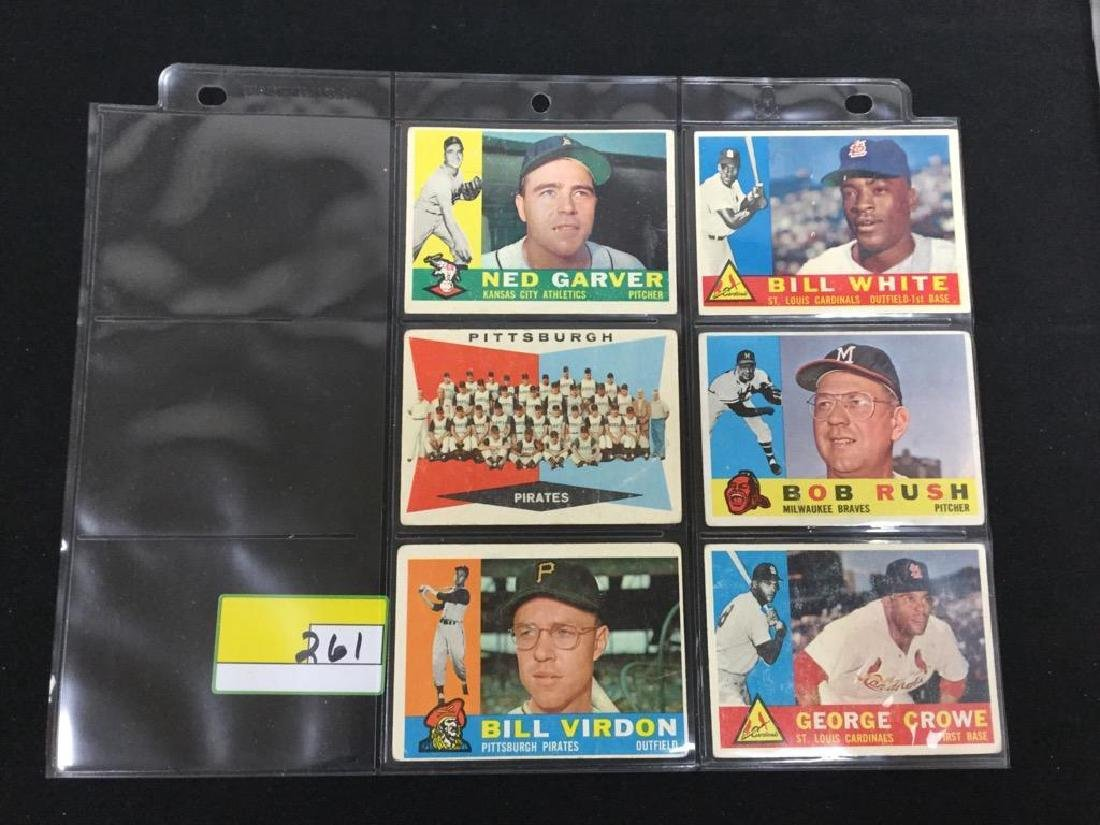 33 COUNT 1960 TOPPS BASEBALL CARDS. INCOMPLETE SET - 4