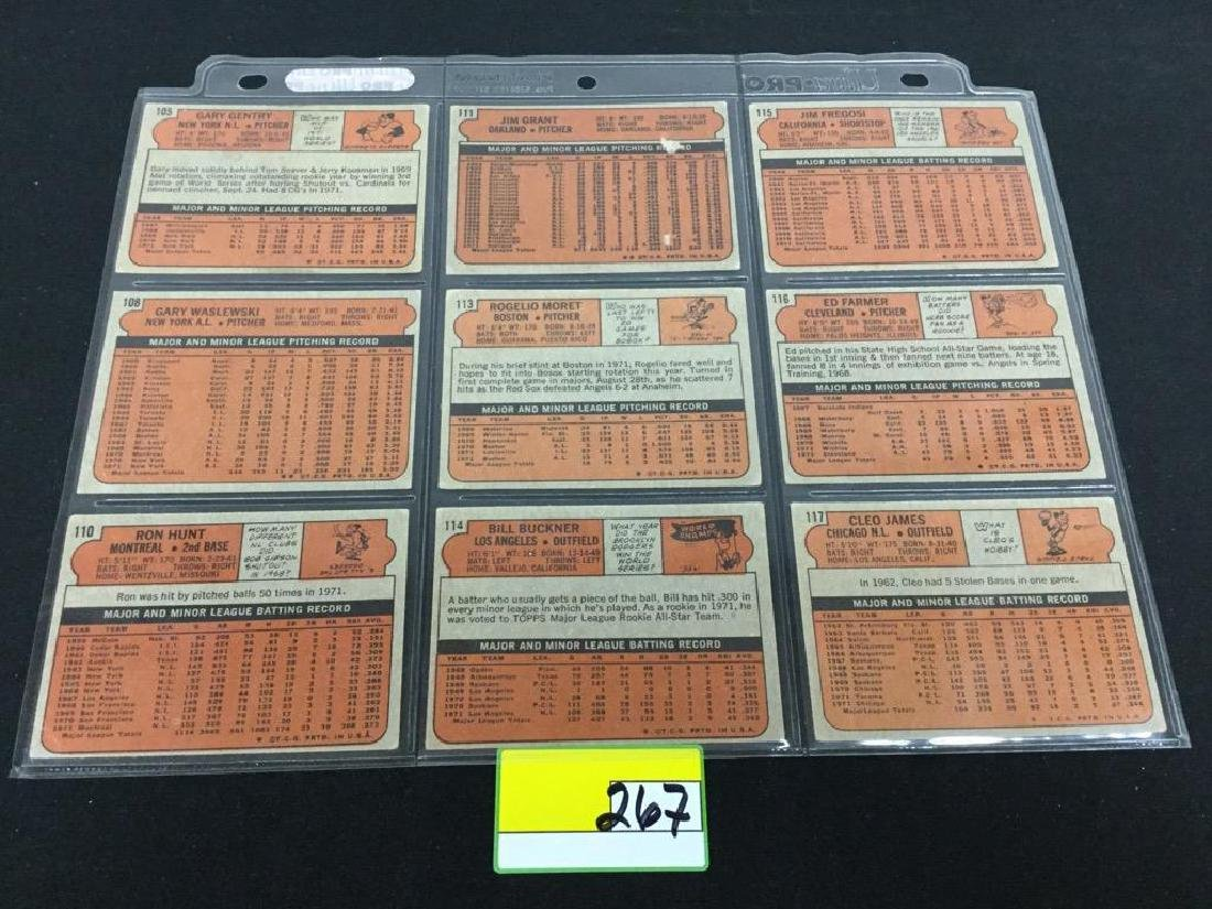 76 COUNT VINTAGE MIXED LOT 1972 TOPPS BASEBALL CARDS. - 10