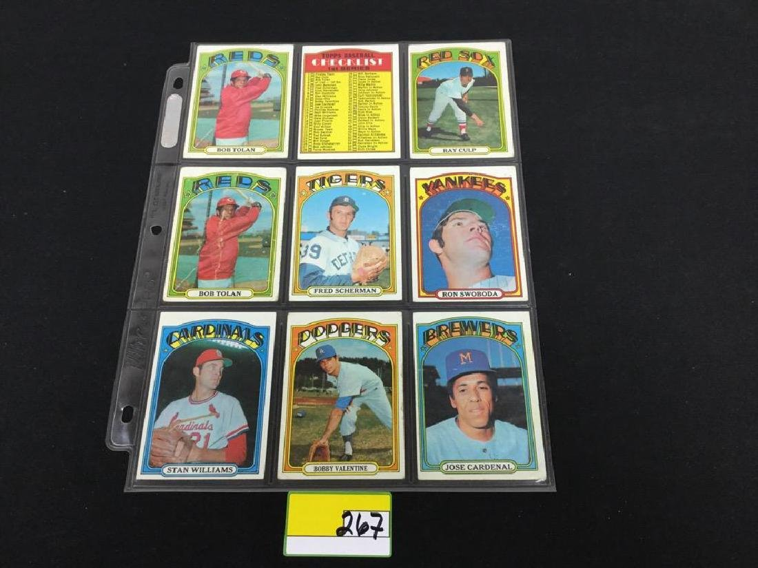 76 COUNT VINTAGE MIXED LOT 1972 TOPPS BASEBALL CARDS.