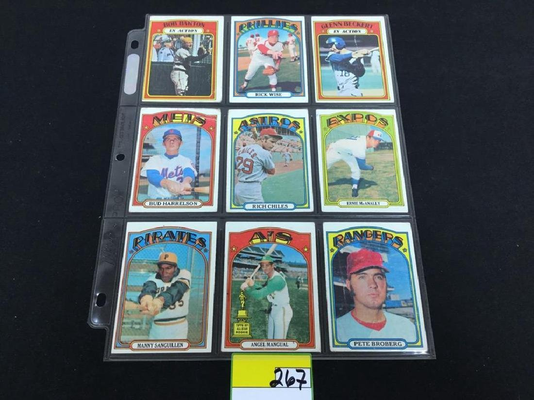 76 COUNT VINTAGE MIXED LOT 1972 TOPPS BASEBALL CARDS. - 5