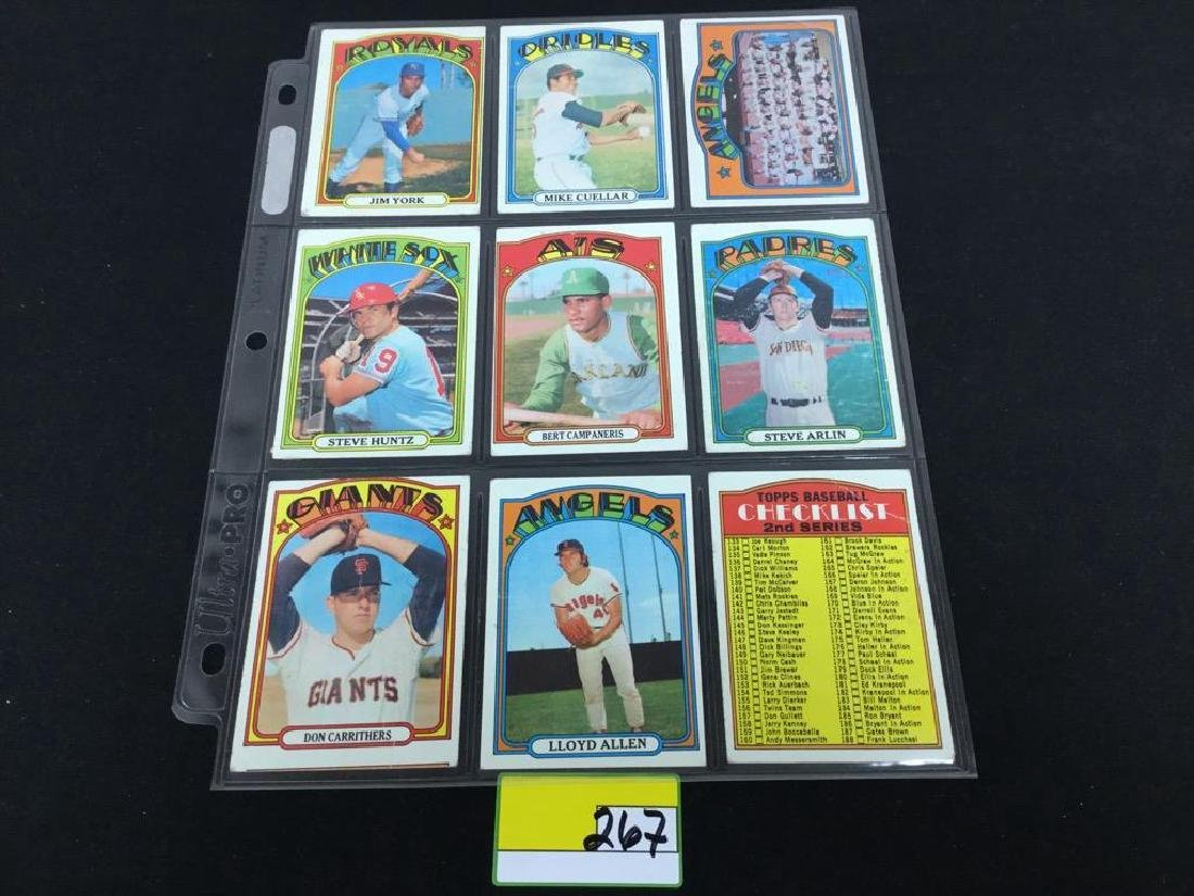 76 COUNT VINTAGE MIXED LOT 1972 TOPPS BASEBALL CARDS. - 7