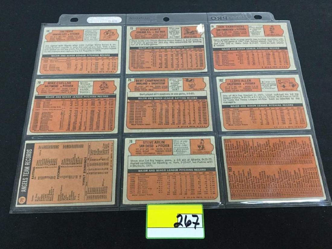 76 COUNT VINTAGE MIXED LOT 1972 TOPPS BASEBALL CARDS. - 8