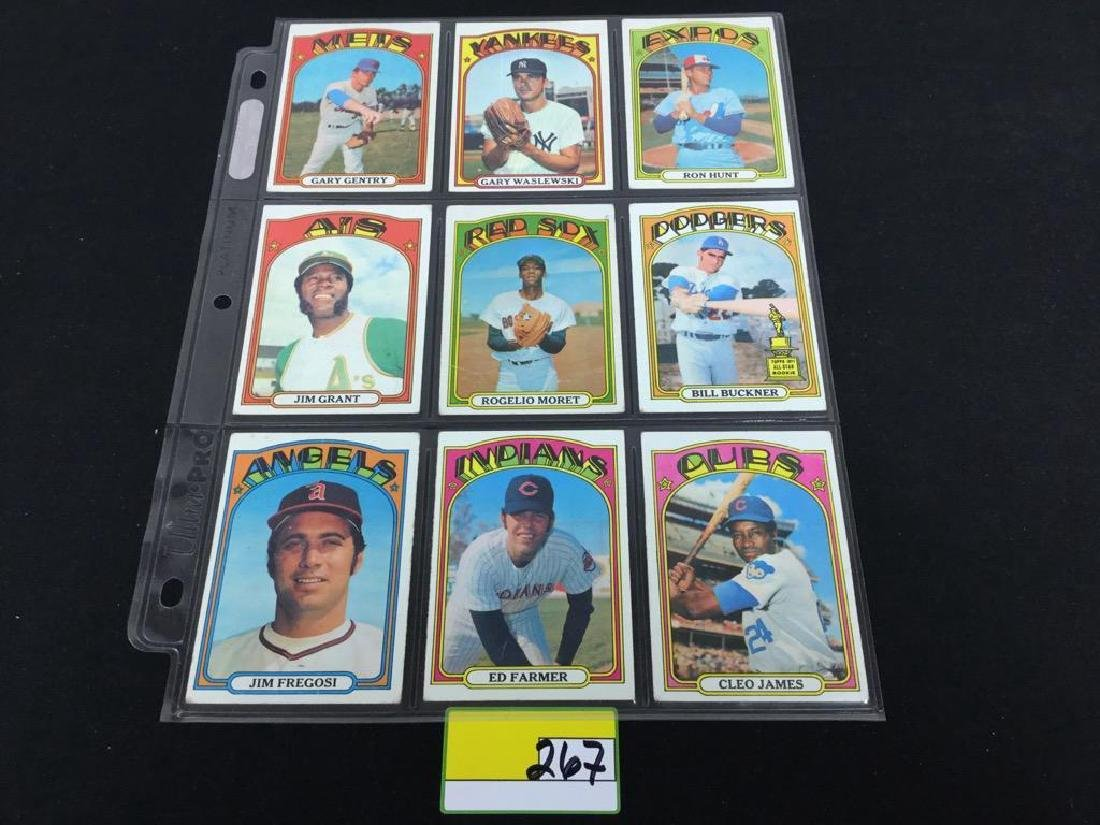 76 COUNT VINTAGE MIXED LOT 1972 TOPPS BASEBALL CARDS. - 9