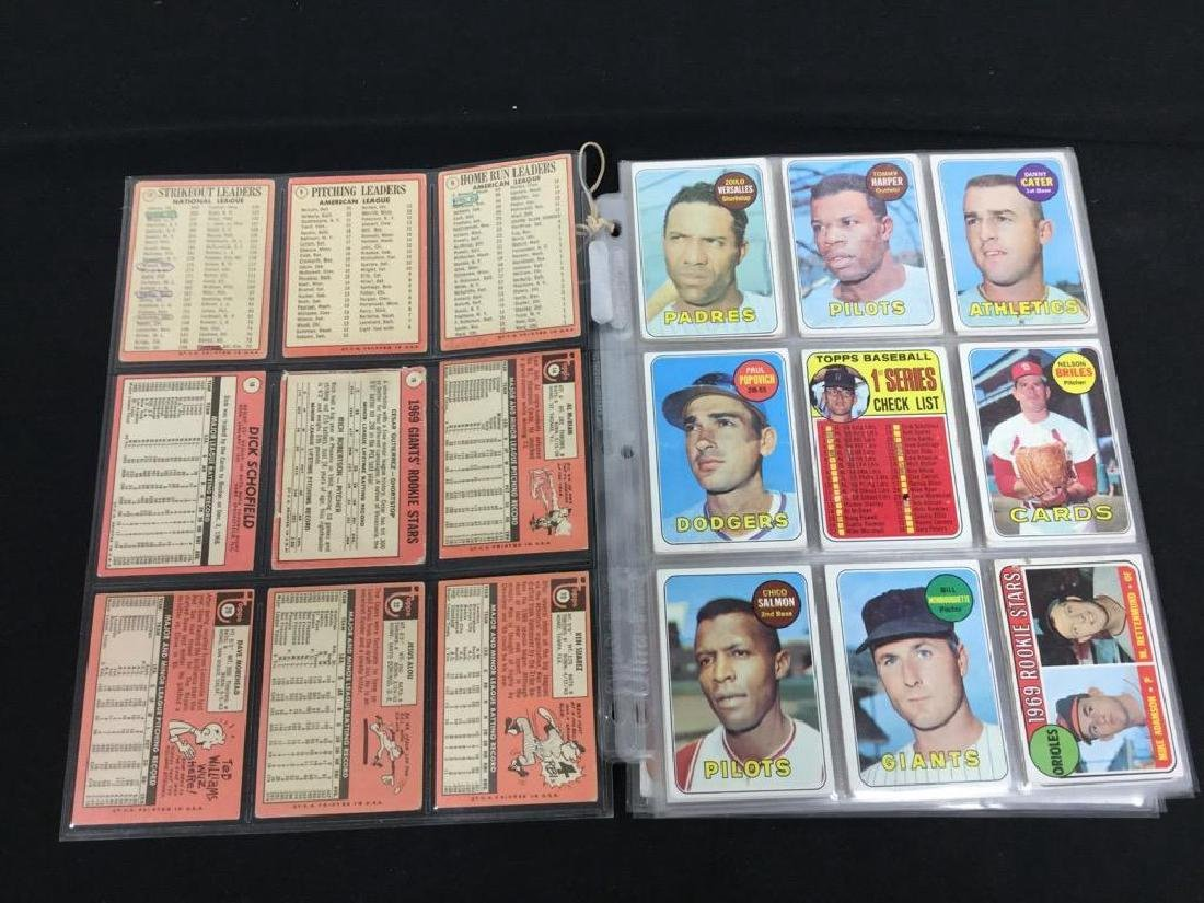86 COUNT VINTAGE MIXED LOT 1969 TOPPS BASEBALL CARDS. - 2