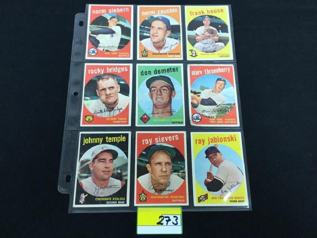 49 COUNT VINTAGE MIXED LOT 1959 TOPPS BASEBALL CARDS. - 5