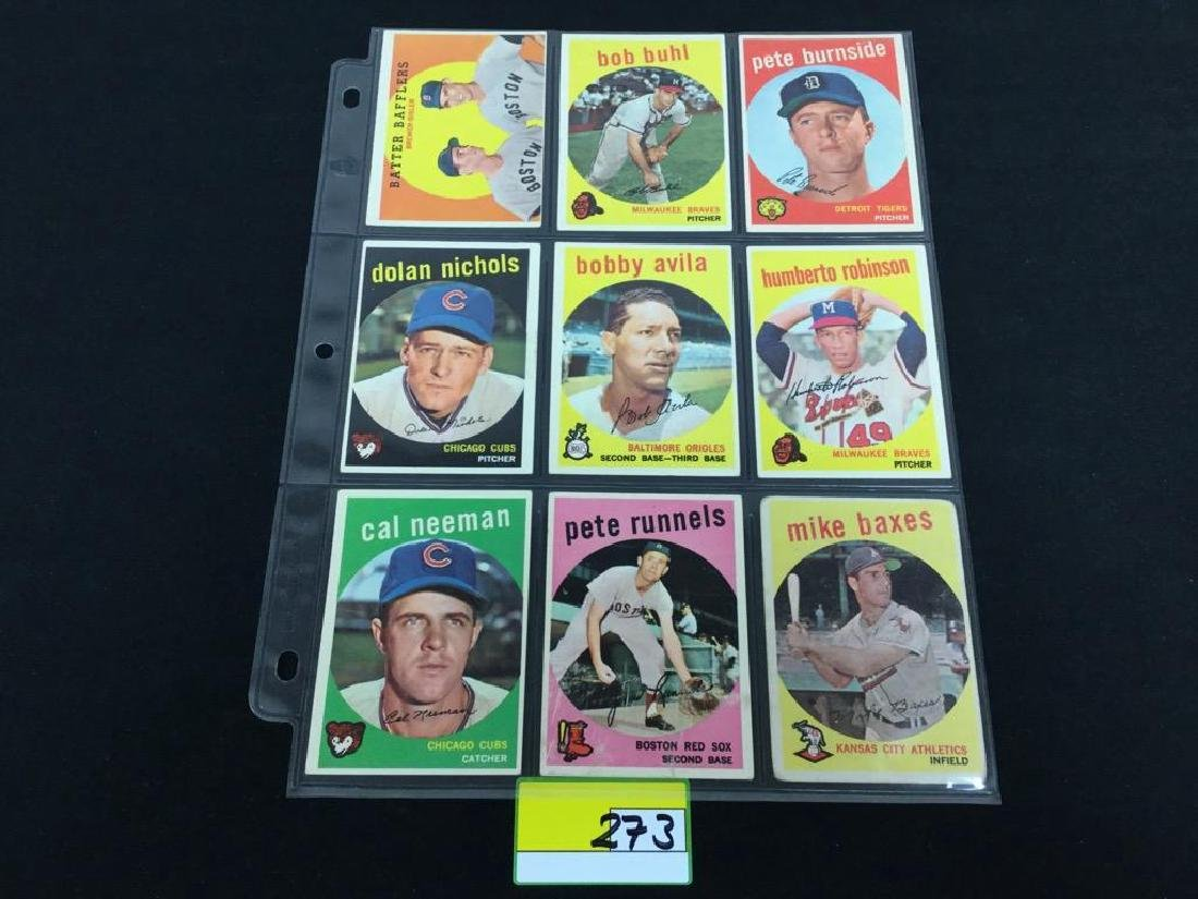 49 COUNT VINTAGE MIXED LOT 1959 TOPPS BASEBALL CARDS. - 7