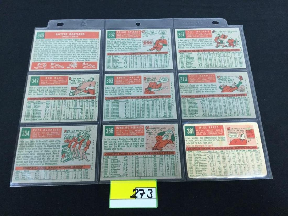 49 COUNT VINTAGE MIXED LOT 1959 TOPPS BASEBALL CARDS. - 8