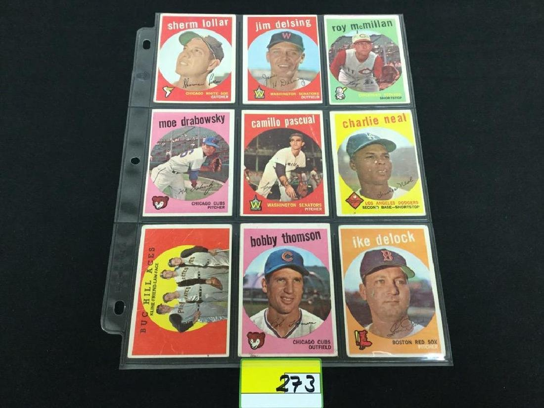 49 COUNT VINTAGE MIXED LOT 1959 TOPPS BASEBALL CARDS. - 9