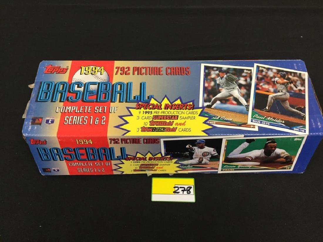 TOPPS 1994 792 COUNT BASEBALL CARDS. COMPLETE SET OF - 2