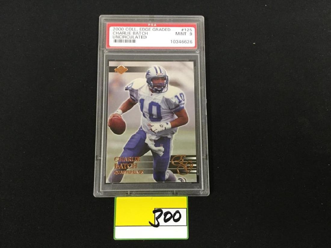 2000 COLL. EDGE GRADED #125 CHARLIE BATCH UNCIRCULATED.