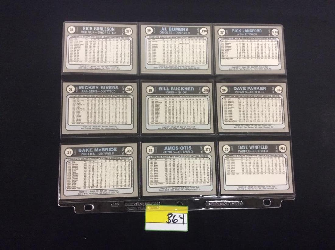 LOT OF 134 MIXED LOT 1981 FLEER STAR STICKER. THESE ARE - 10