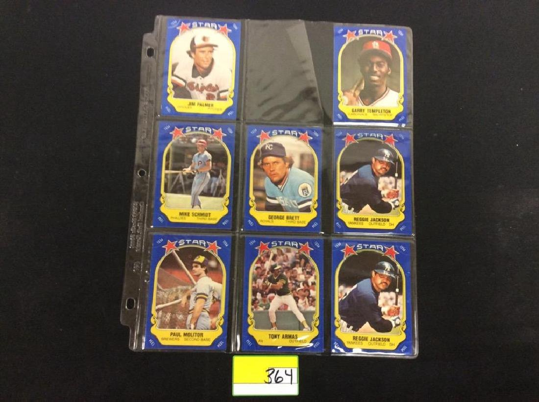 LOT OF 134 MIXED LOT 1981 FLEER STAR STICKER. THESE ARE