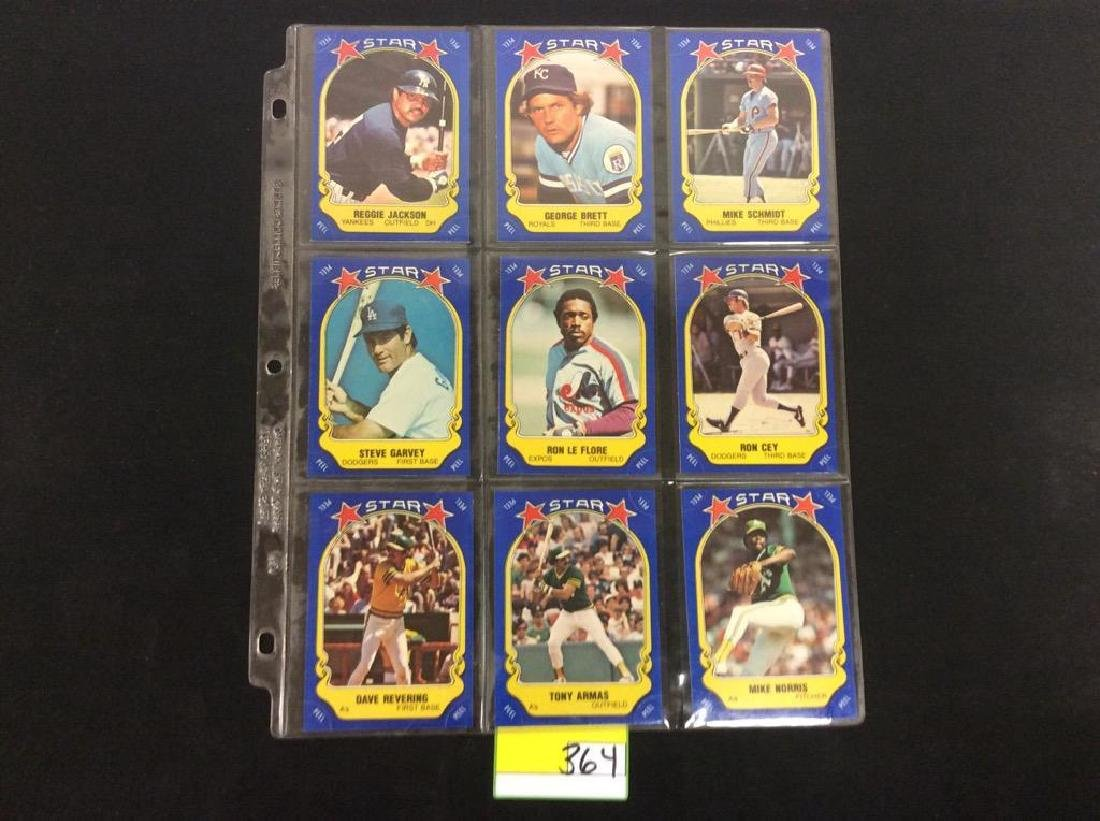LOT OF 134 MIXED LOT 1981 FLEER STAR STICKER. THESE ARE - 3
