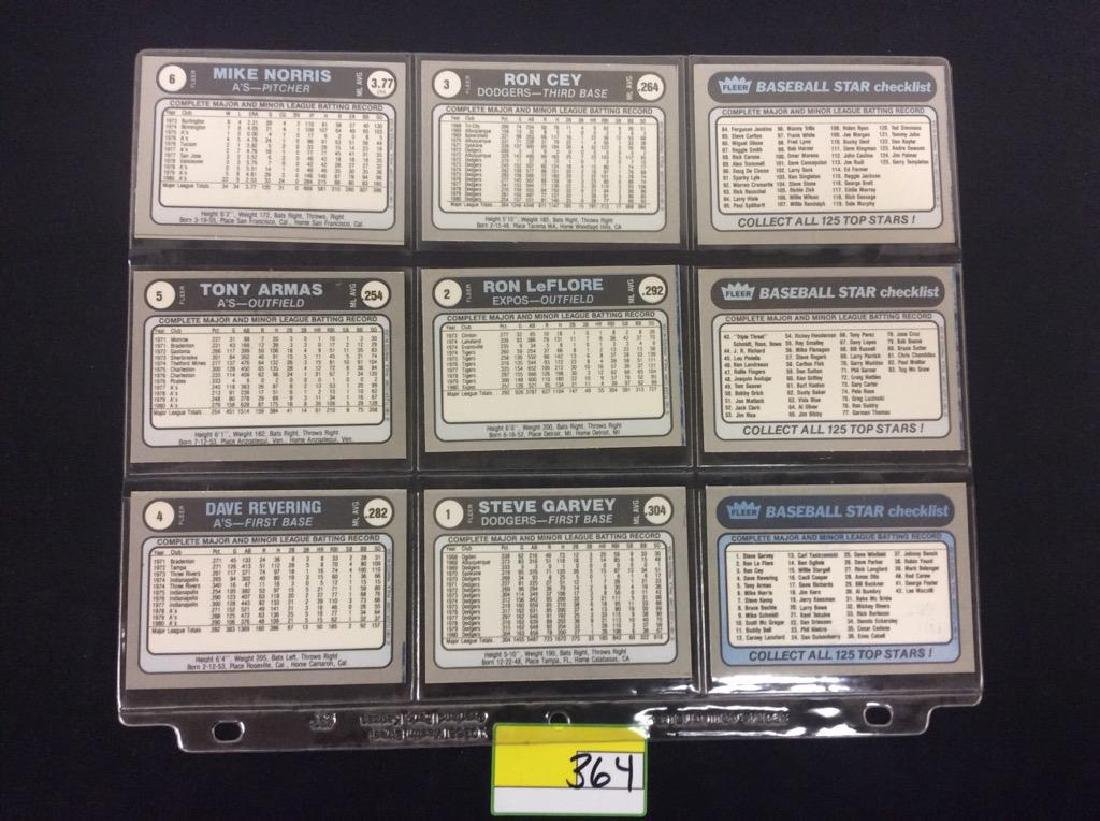 LOT OF 134 MIXED LOT 1981 FLEER STAR STICKER. THESE ARE - 4