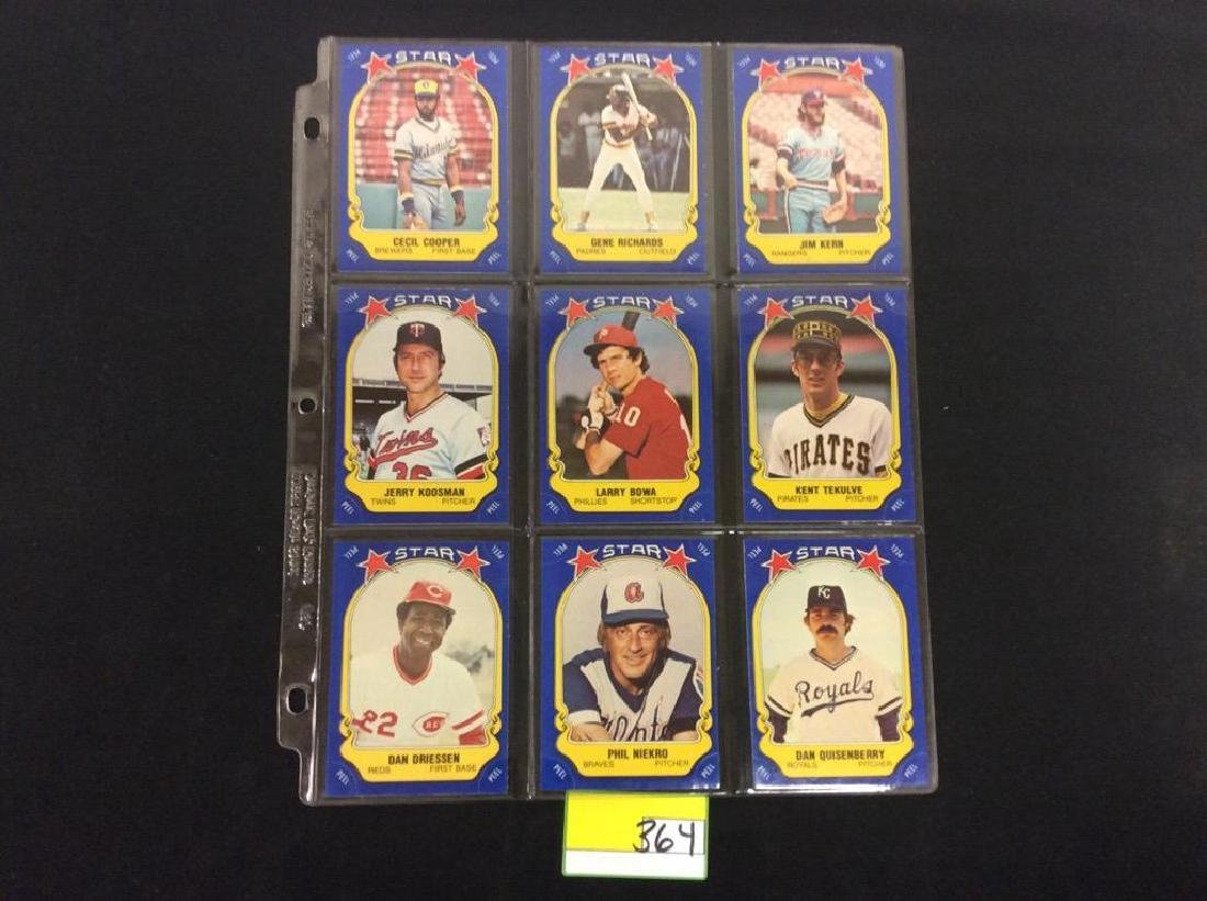 LOT OF 134 MIXED LOT 1981 FLEER STAR STICKER. THESE ARE - 7