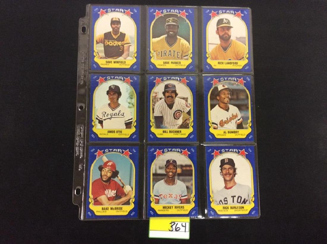 LOT OF 134 MIXED LOT 1981 FLEER STAR STICKER. THESE ARE - 9