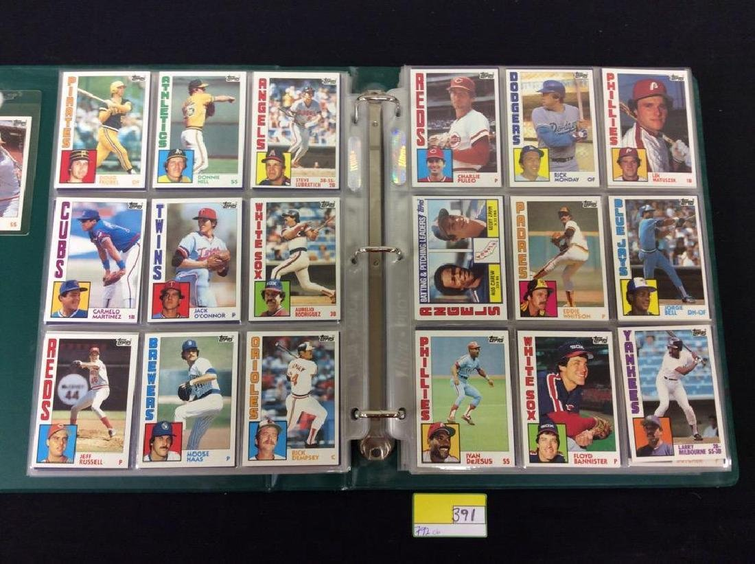 LOT OF 792, 1984 TOPPS BASEBALL CARDS. MANY HALL OF - 4