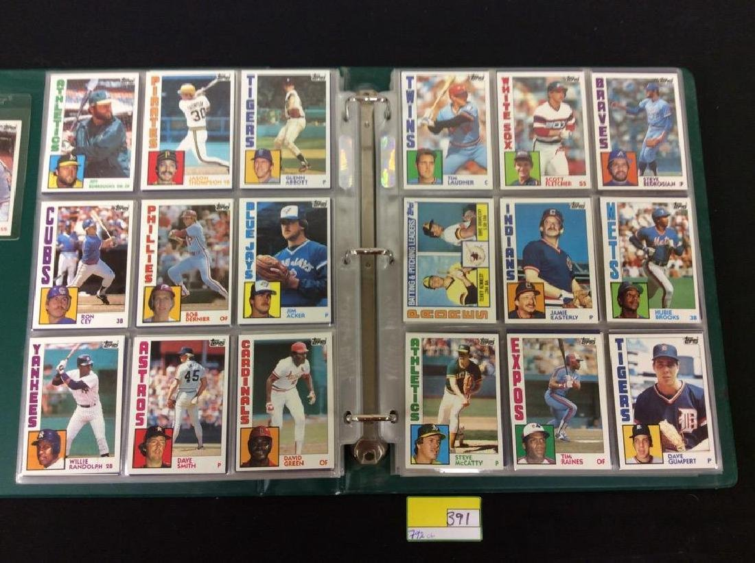 LOT OF 792, 1984 TOPPS BASEBALL CARDS. MANY HALL OF - 5