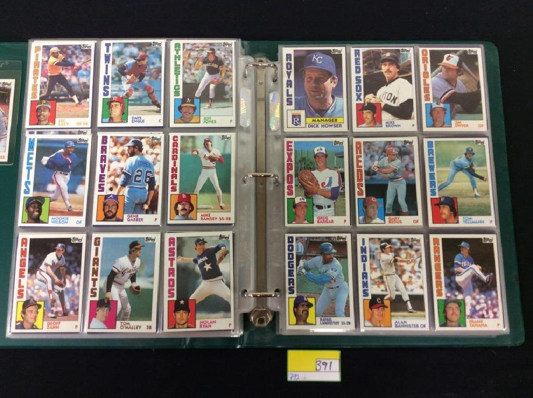 LOT OF 792, 1984 TOPPS BASEBALL CARDS. MANY HALL OF - 6