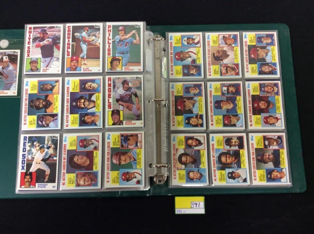LOT OF 792, 1984 TOPPS BASEBALL CARDS. MANY HALL OF - 8