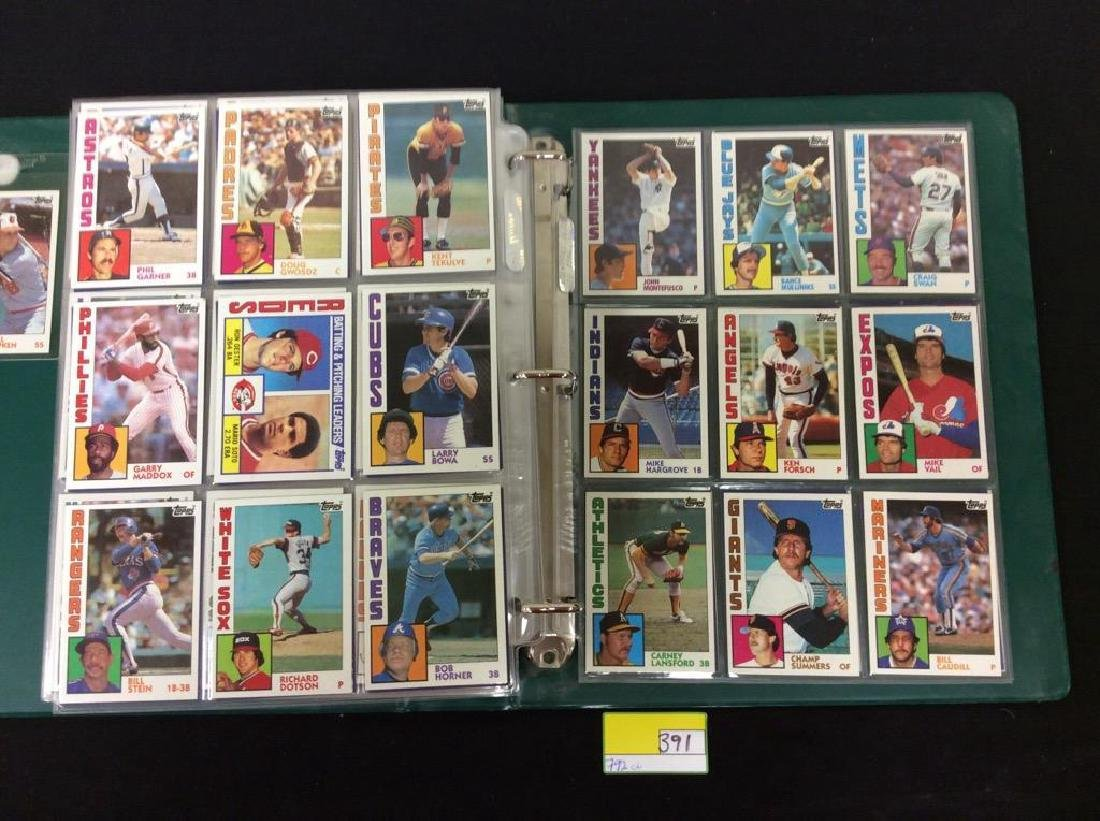 LOT OF 792, 1984 TOPPS BASEBALL CARDS. MANY HALL OF - 9