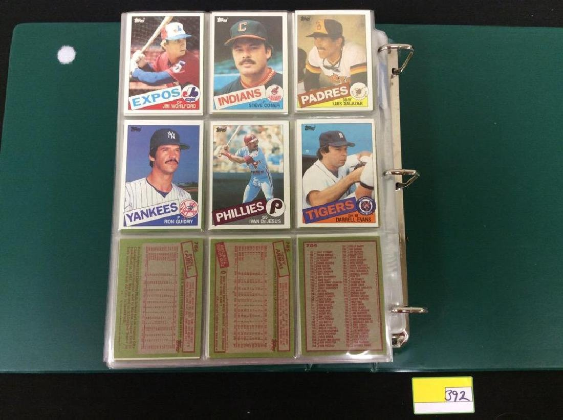 LOT OF OVER 750, 1985 TOPPS BASEBALL CARDS. MANY HALL - 10
