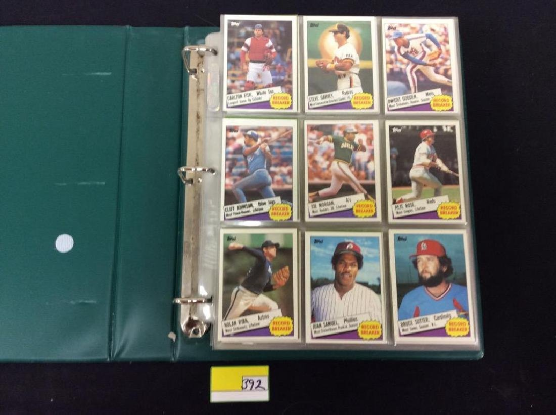 LOT OF OVER 750, 1985 TOPPS BASEBALL CARDS. MANY HALL - 2