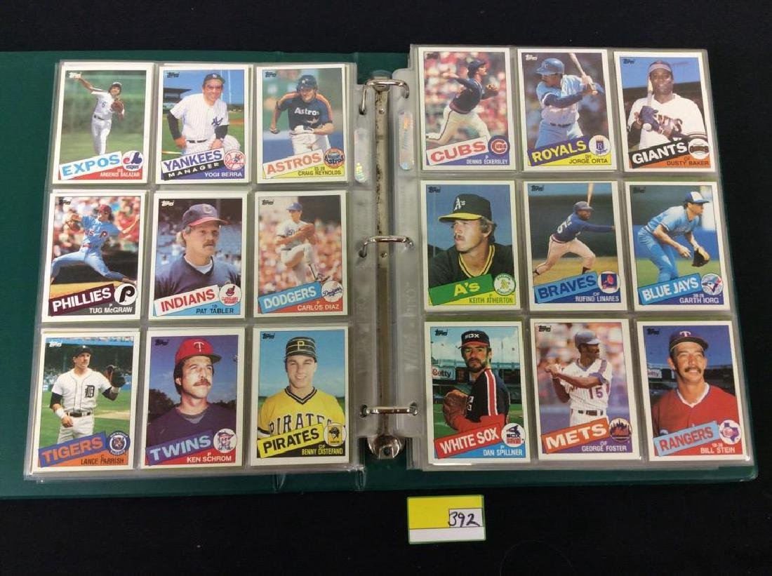 LOT OF OVER 750, 1985 TOPPS BASEBALL CARDS. MANY HALL - 3